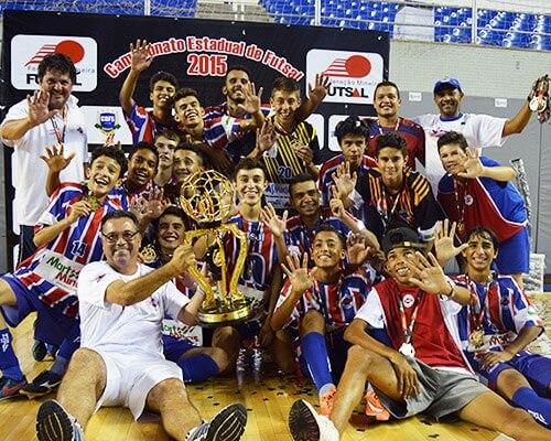 Equipe de Futsal SUB 15, CAMPEÕES Estaduais 2015.
